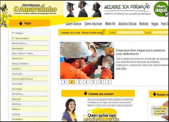 Site O Amarelinho, www.oamarelinho.com.br