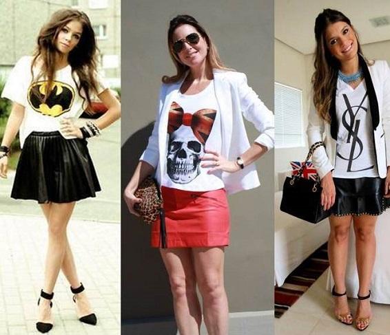 T-shirts Femininas Moda 2014