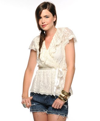 Blusas de Renda Femininas – Moda Primavera Verão 2012