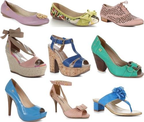 6be8f8647 Calçados Femininos Lançamentos 2012 – Coleção Primavera Verão, Arrase no  Verão
