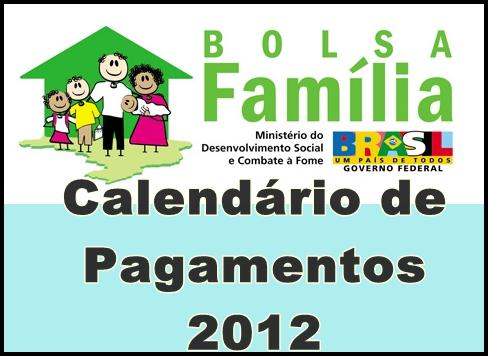 Calendário Bolsa Família 2012