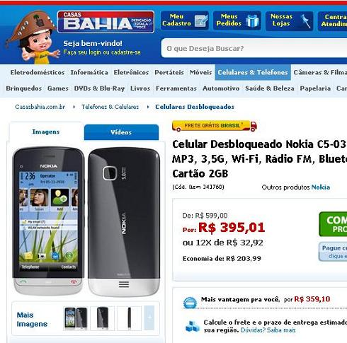 Celulares Nokia Casas Bahia – Dicas e Promoções