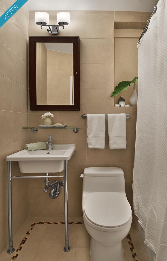 Como Decorar Banheiro Pequeno  Fotos e Modelos -> Decoracao De Banheiro Pequeno Com Pouco Dinheiro