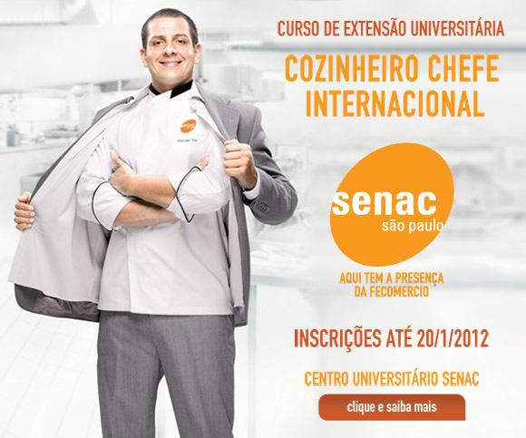 Curso de Gastronomia SENAC 2012 – Dicas e Informações