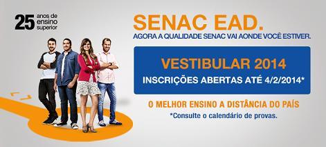 Cursos EAD Gratuitos SENAC 2014