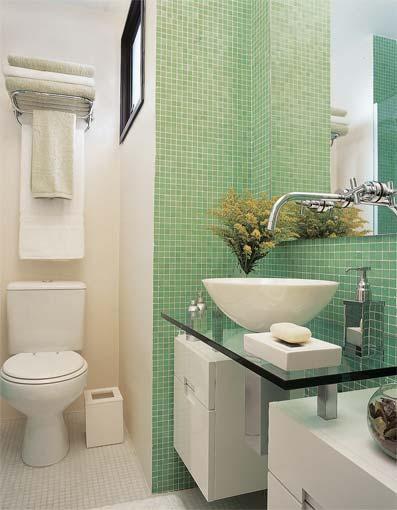 Decoração de Banheiros Pequenos  Dicas e Fotos -> Banheiro Pequeno Dicas