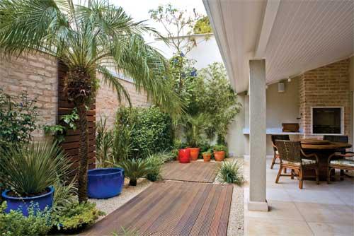 Decoração de Jardim Externo Pequeno  Dicas e Modelos