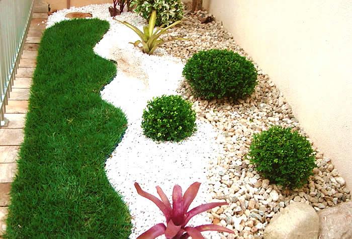 de Jardim Externo Pequeno  Dicas e Modelos Decoração de Jardim