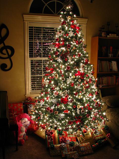 decoracao arvore de natal dicas : decoracao arvore de natal dicas:Red Christmas Tree Decoration