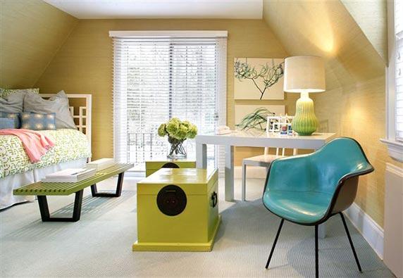 decoracao de apartamentos pequenos de baixo custo:Guest Room Office Combo