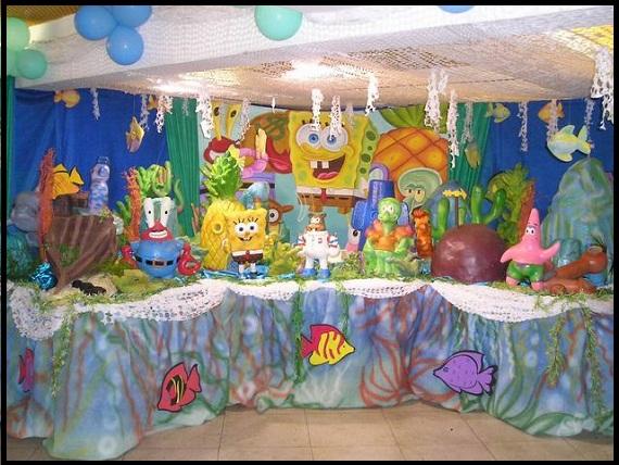 Decoração Festa Bob Esponja: Bolos, Convites, Mesa de Aniversário Infantil