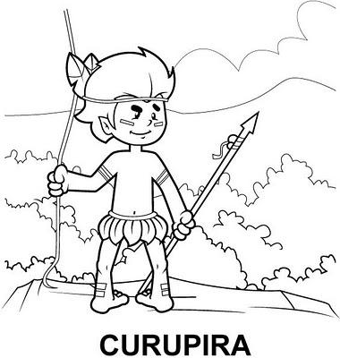 Desenhos do Folclore Brasileiro para Colorir