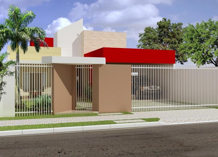 Fachadas de casas residenciais dicas e fotos for Precios de casas modernas