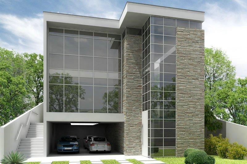 Fachadas de casas residenciais fotos for Modelos de casas fachadas fotos