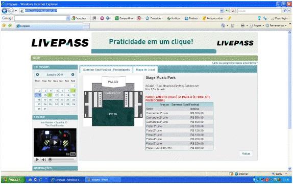 Ingressos Online Site Livepass – www.livepass.com.br