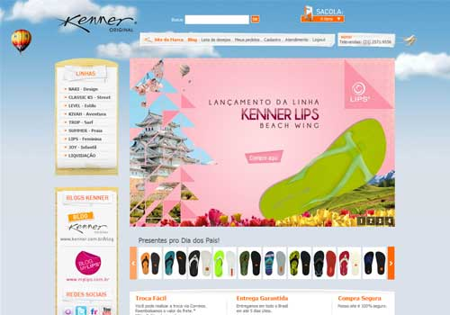 Site lojas Kenner &#8211; www.lojakenner.com.br