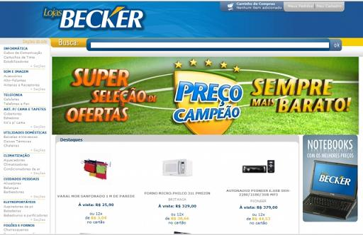 Site Lojas Becker – www.elojasbecker.com.br