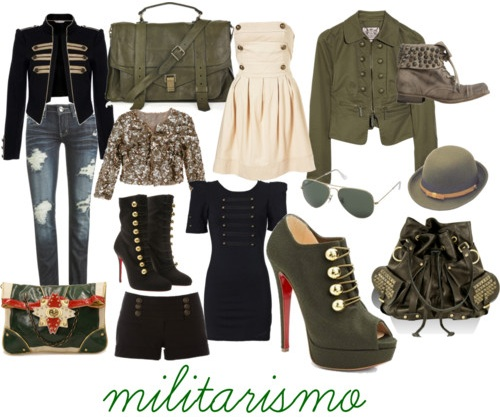 Moda Roupas Militares 2012