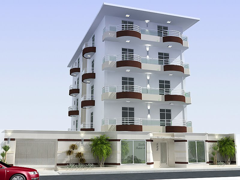 Modelos de fachadas de pr dios pequenos for Fachadas para apartamentos pequenos