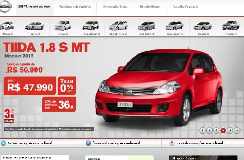 Site Nissan Brasil – www.nissan.com.br