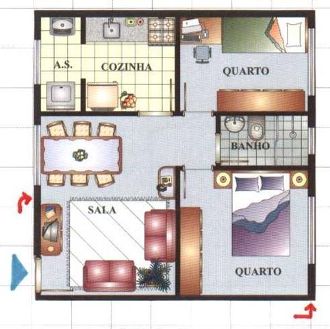 planta-de-casa-de-dois-quartos-2