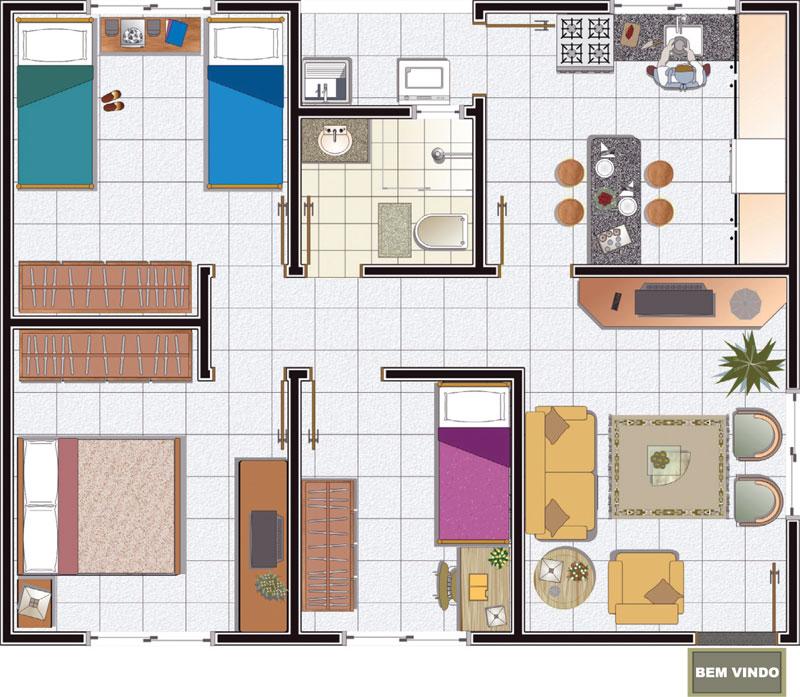 Plantas de Casas Pequenas Modernas – Modelos Grátis