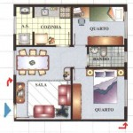 plantas-de-casas-com-2-quartos