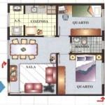 plantas-de-casas-com-dois-quartos
