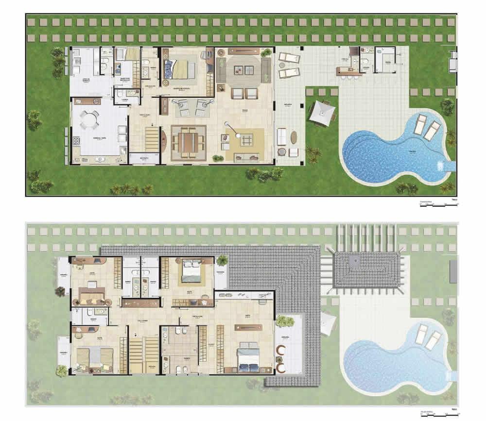 Plantas de casas com piscinas fotos e dicas - Plantas para casas ...