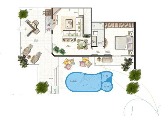 Plantas de casas com piscinas fotos e dicas for Plantas para piscinas