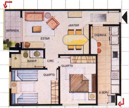Plantas de Casas Modernas e Pequenas: Modelos e Sugestões