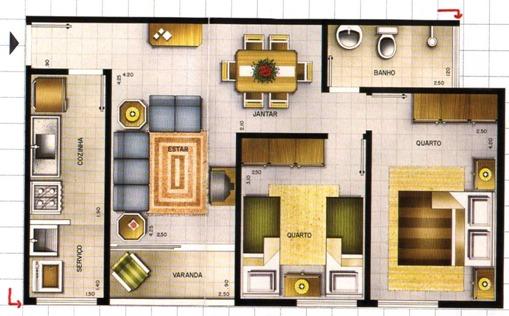 Plantas de casas pequenas fotos e modelos for Planos de casas medianas