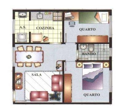 Plantas de casas pequenas gr tis dicas e modelos for Modelo de casa 7 x 10
