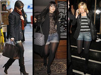 Shorts com Meia Calça – Tendências 2012