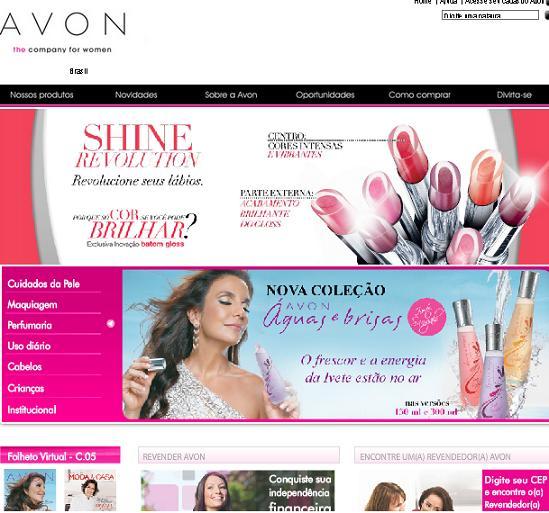 Site da Avon – www.avon.com.br
