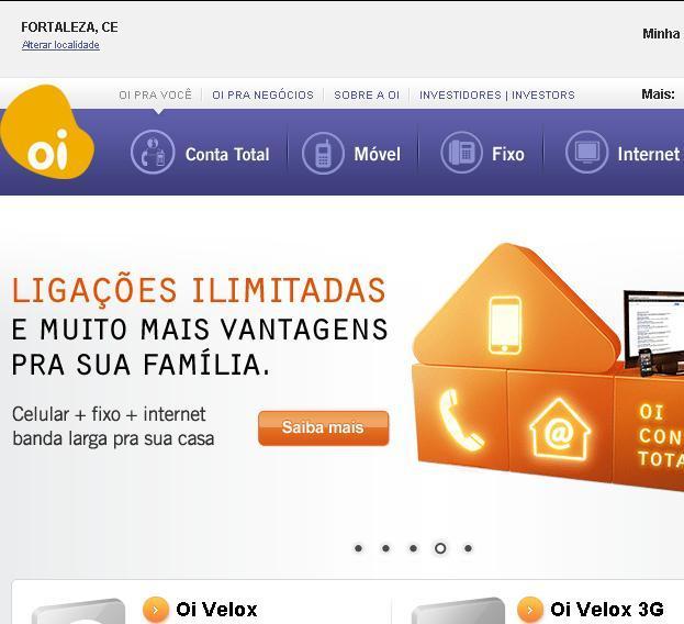 Site da Oi – www.oi.com.br