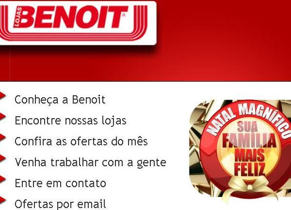 Site Lojas Benoit: www.benoit.com.br