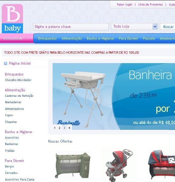 Site Lojas Baby – www.lojasbaby.com.br