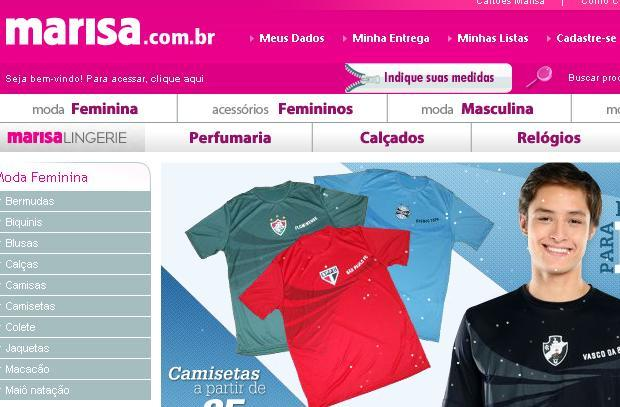 Site Lojas Marisa: www.marisa.com.br