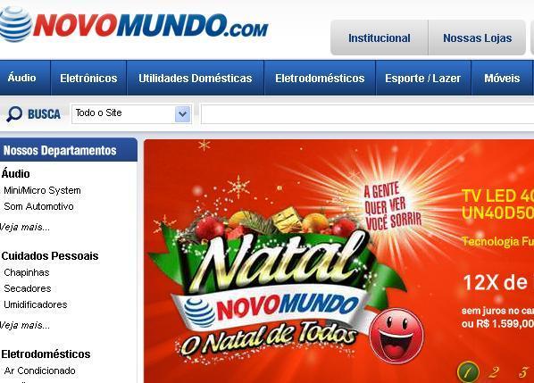 Site Lojas Novo Mundo : www.novomundo.com.br