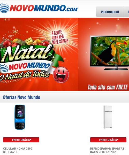 Site Lojas Novo Mundo – www.novomundo.com.br