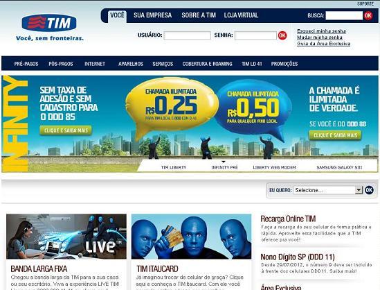 Site da Operadora TIM – www.tim.com.br