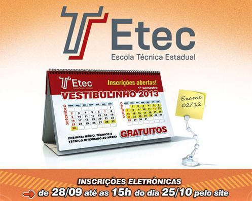 Vestibulinho ETEC 2013 – Dicas de Como se Preparar