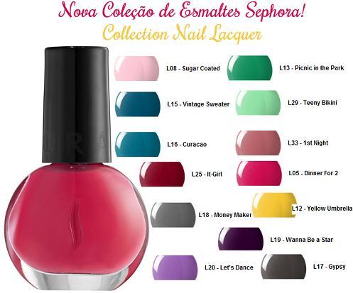 Esmaltes Sephora – Coleção 2012