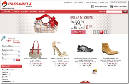 Ofertas Passarela Calçados – www.passarela.com.br