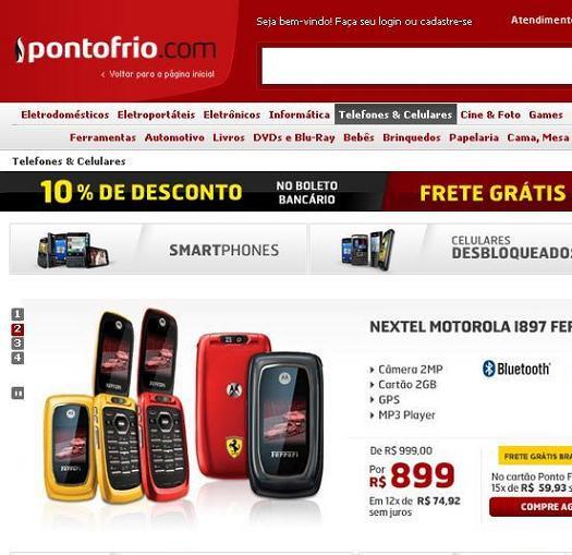 Ponto Frio Ofertas Celulares 2012