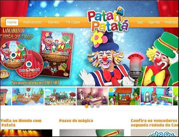 Site Patati Patatá Oficial – www.patatipatata.com.br