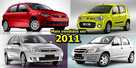 Lista dos Carros Populares Mais Vendidos no Brasil em 2011