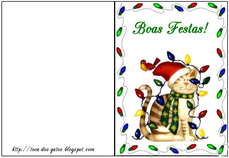 Cartao De Natal Modelos Para Imprimir
