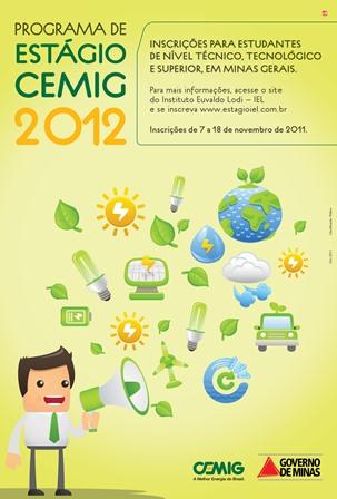 Programa de Estágio Cemig 2012 – Informações e Inscrições